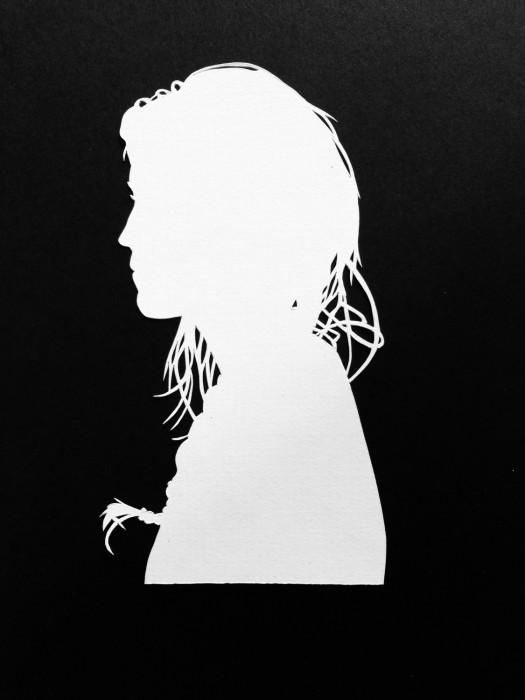 Cut Paper Silhouette - Adrianna
