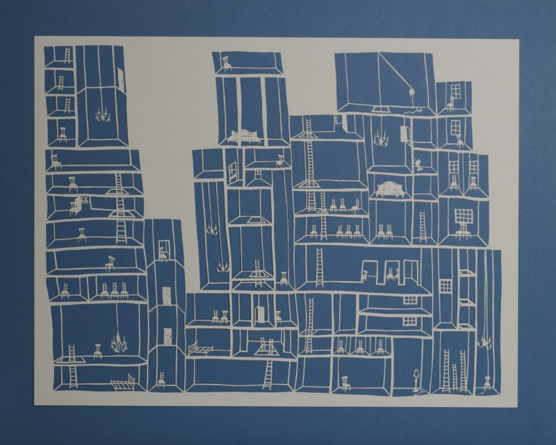 Detention Center I, Cut Paper by Gail Cunningham