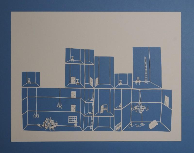 Detention Center II, Cut Paper by Gail Cunningham