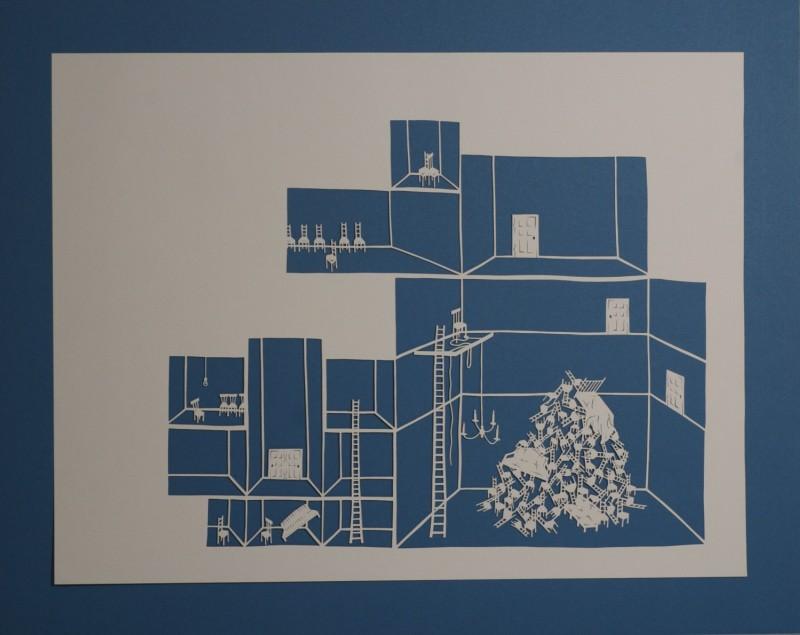 Detention Center III, Cut Paper by Gail Cunningham