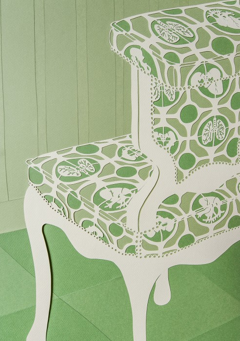 Excised & Preserved (Detail), Cut Paper by Gail Cunningham