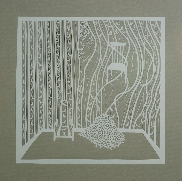 Hidden and Captured, Cut Paper by Gail Cunningham