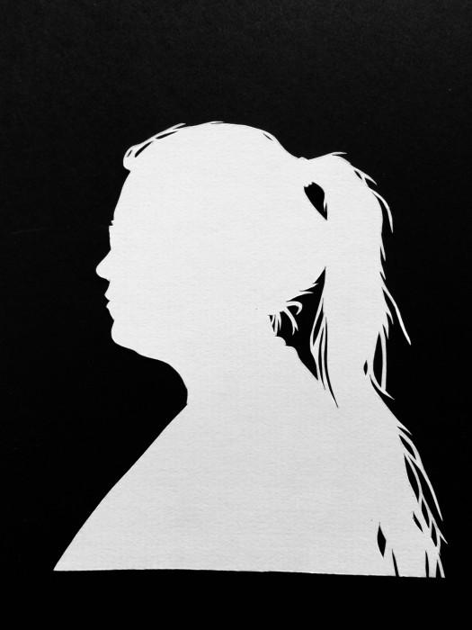 Cut Paper Silhouette - Gail
