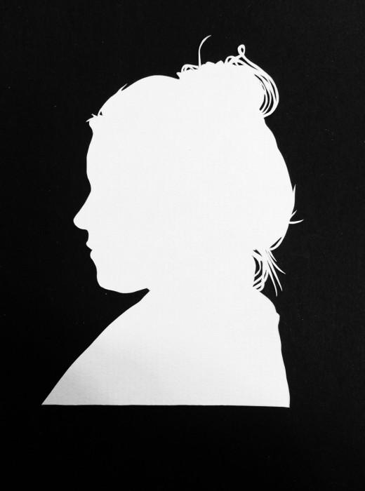 Cut Paper Silhouette - Katie